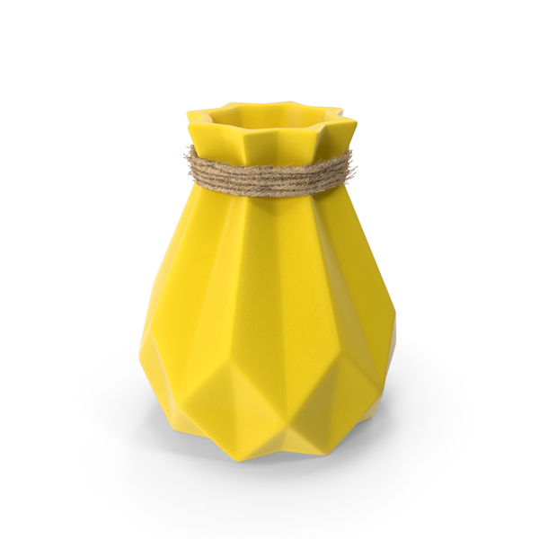 Porcelain Modern Diamond shape Vase PNG & PSD Images