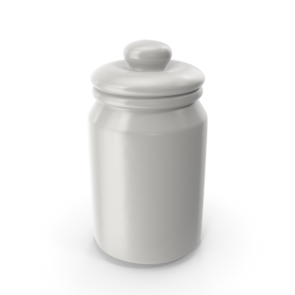 Porcelain Round Jar Closed PNG & PSD Images