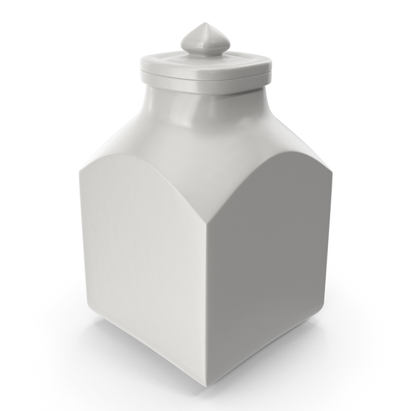 Porcelain Square Jar Closed PNG & PSD Images