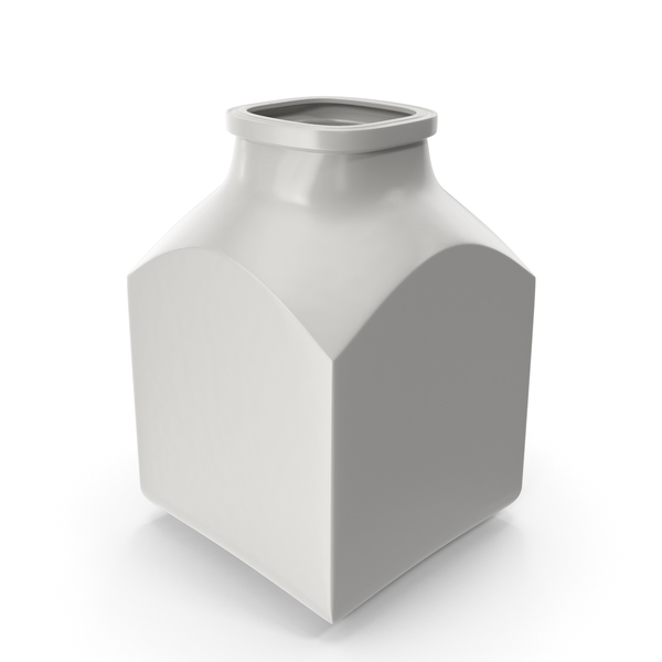 Porcelain Square Jar Open PNG & PSD Images