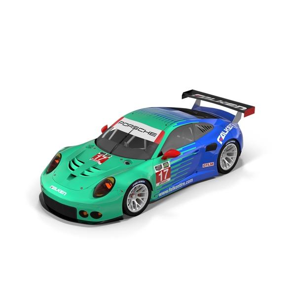 Race Car: Porsche RSR Falken PNG & PSD Images