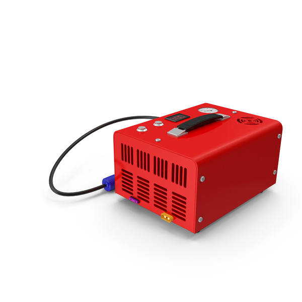 Portable Air Compressor Red PNG & PSD Images