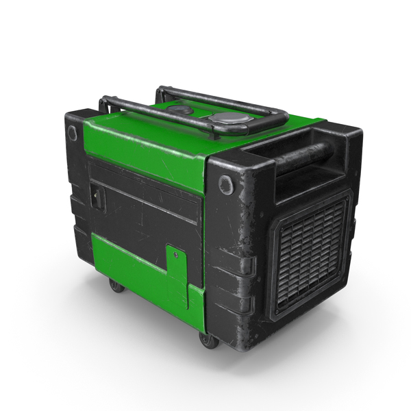 Portable Generator Green Used PNG & PSD Images