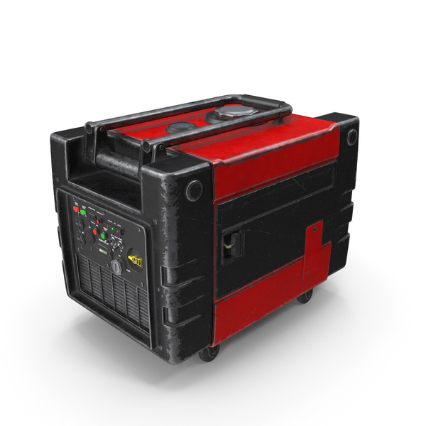 Portable Generator Red Used PNG & PSD Images