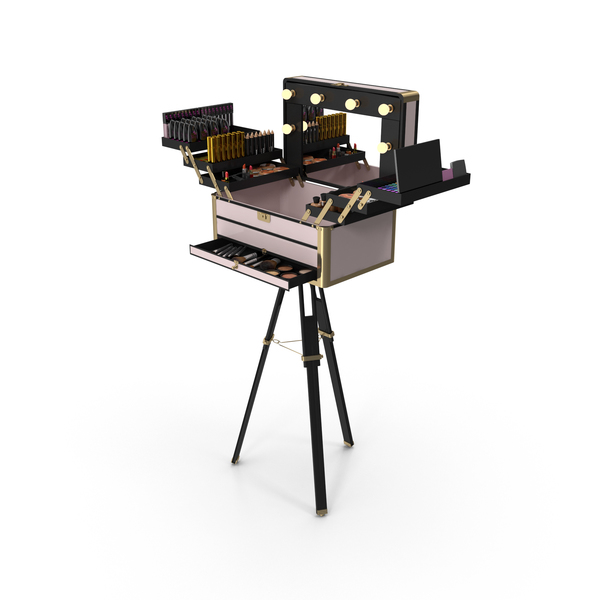 Cosmetics Stand: Portable Makeup Station PNG & PSD Images