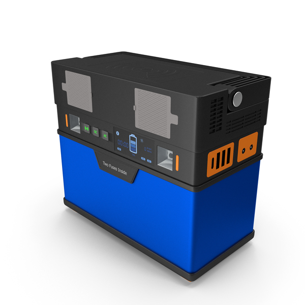 Portable Power Station Blue PNG & PSD Images