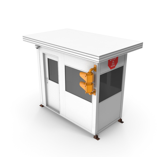 Guard Building: Portable Security Booth Cabin PNG & PSD Images
