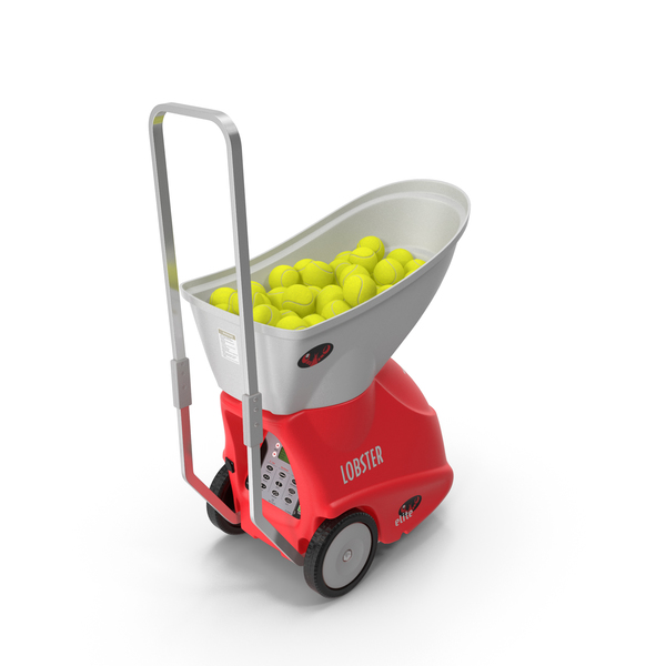 Portable Tennis Ball Machine with Balls PNG & PSD Images