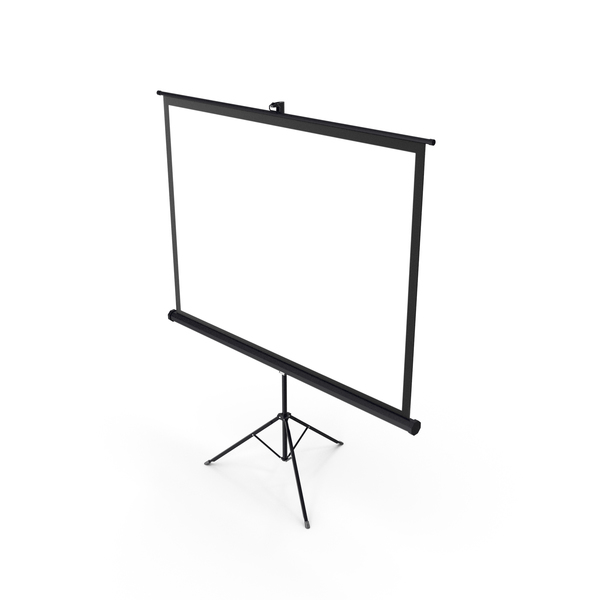 Portable Tripod Projection Screen Black PNG & PSD Images