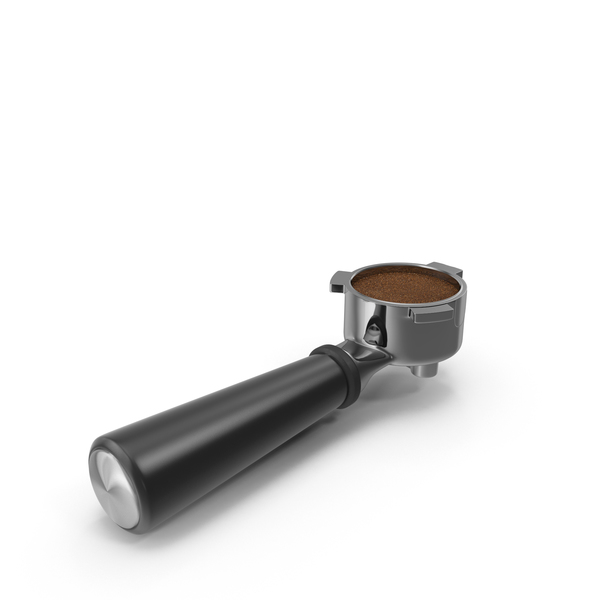 Portafilter and Ground Coffee PNG & PSD Images