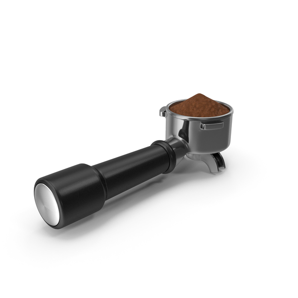 Portafilter with Ground Coffee PNG & PSD Images
