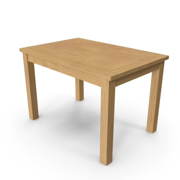Portland Oak Dining Table PNG & PSD Images