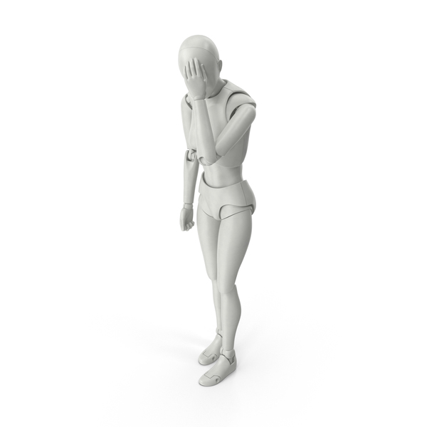 Posed Figure Female Facepalm PNG & PSD Images