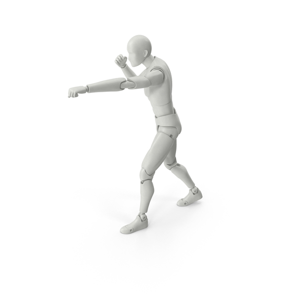 Posed Figure Fighting Pose PNG & PSD Images
