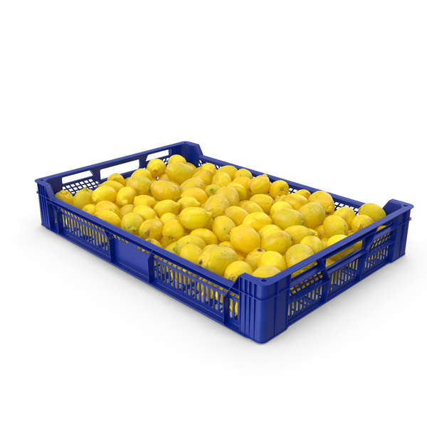 Postharvest Tray with Lemons PNG & PSD Images