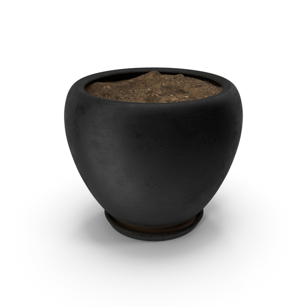 Flower Support: Pot Black PNG & PSD Images