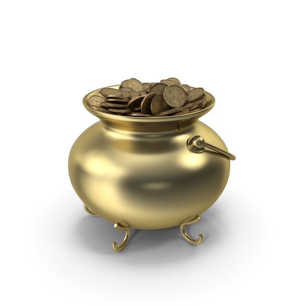 Pot Gold With Coins PNG & PSD Images