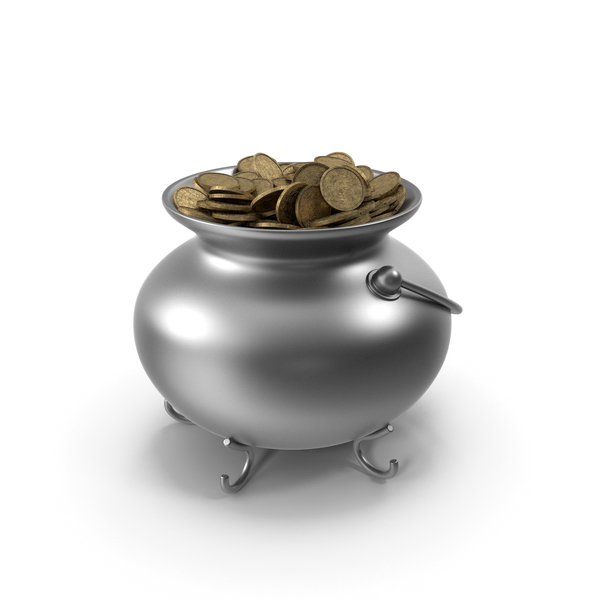 Pot Metall With Coins PNG & PSD Images