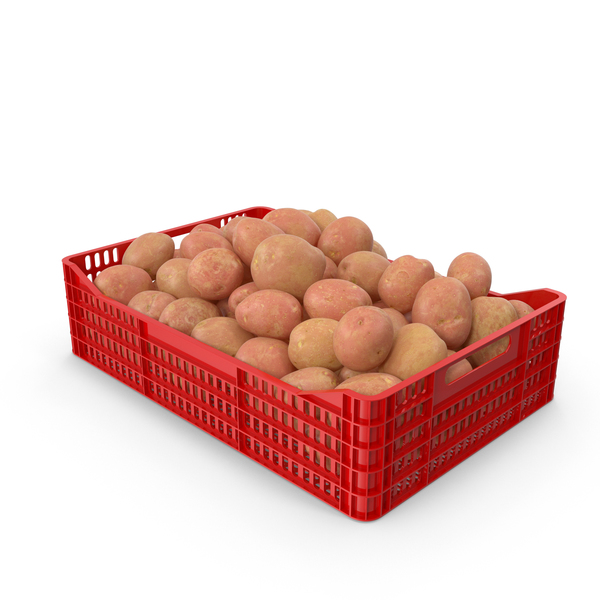 Potatoes Red in Plastic Crate PNG & PSD Images