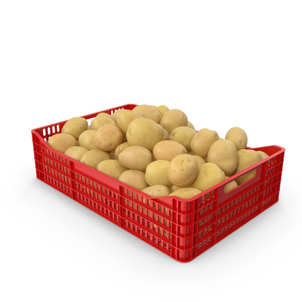 Potato: Potatoes Yellow in Plastic Crate PNG & PSD Images