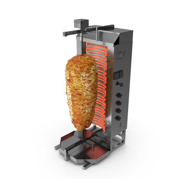 Potis Vertical Rotisserie Grill with Doner Kebab PNG & PSD Images