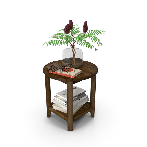 Pottery Barn Benchwright Round Side Table PNG & PSD Images