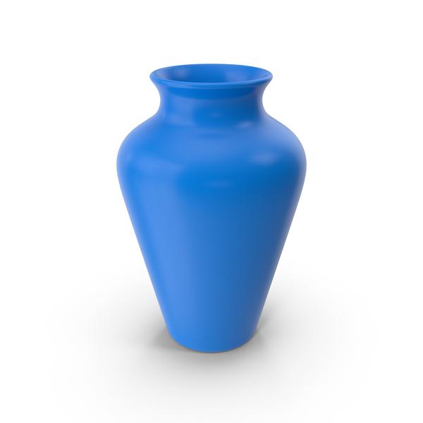 Vase: Pottery Blue PNG & PSD Images