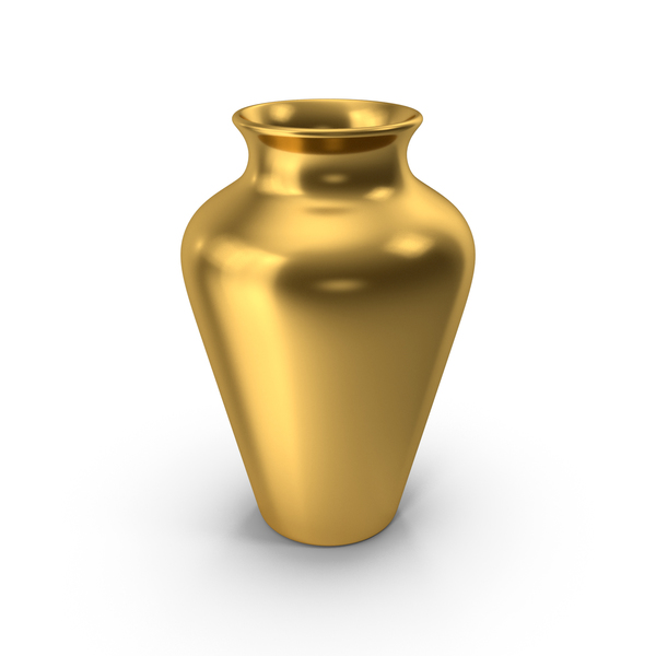 Vase: Pottery Gold PNG & PSD Images