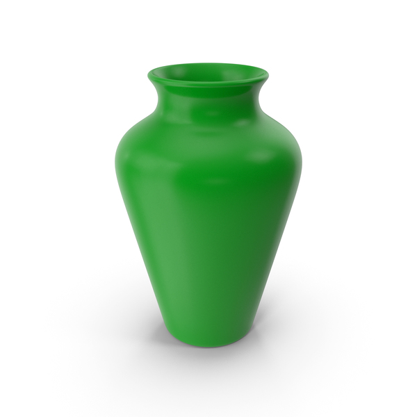 Vase: Pottery Green PNG & PSD Images