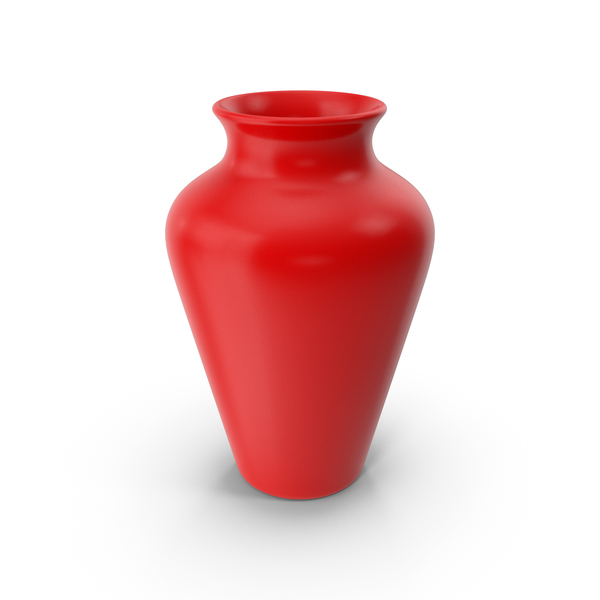 Vase: Pottery Red PNG & PSD Images