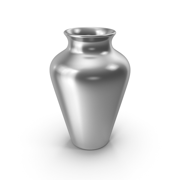 Vase: Pottery Silver PNG & PSD Images