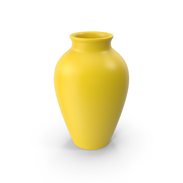 Vase: Pottery Yellow PNG & PSD Images