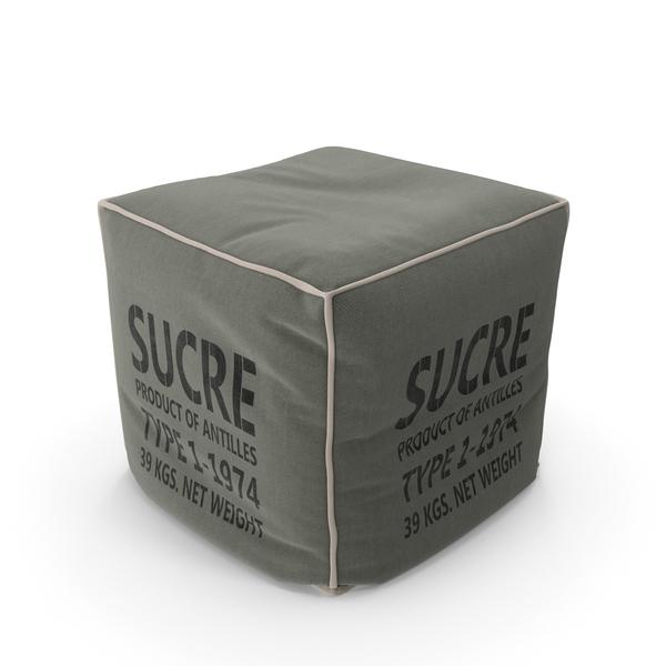 Pouf Design Sucre En Tissu Gris - Epuise PNG & PSD Images
