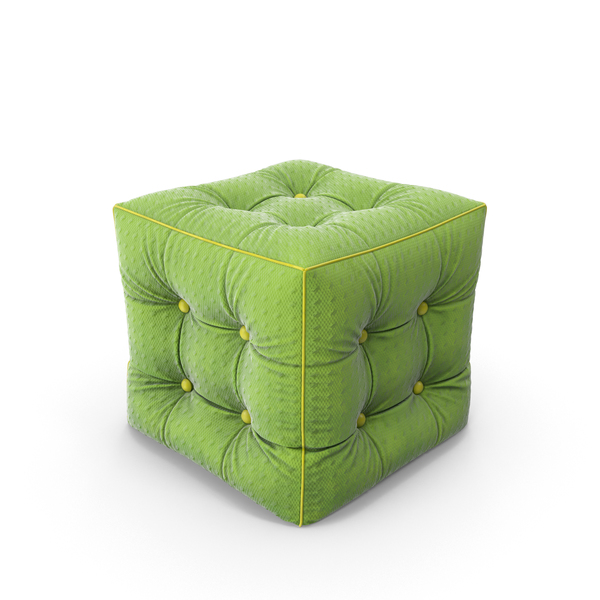 Ottoman: Pouf Green Fabric PNG & PSD Images
