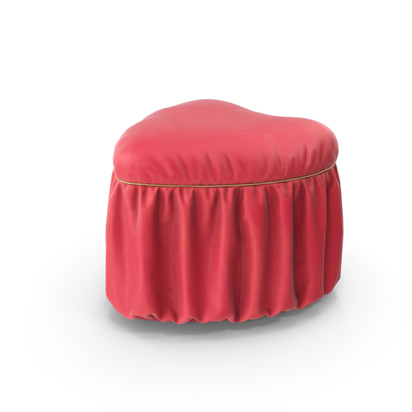 Ottoman: Pouf Heart Pink Leather PNG & PSD Images