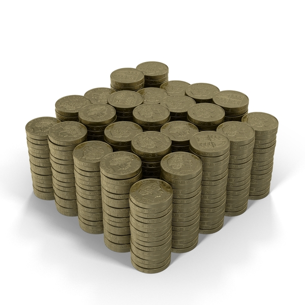 Pound Coin Stacks Object