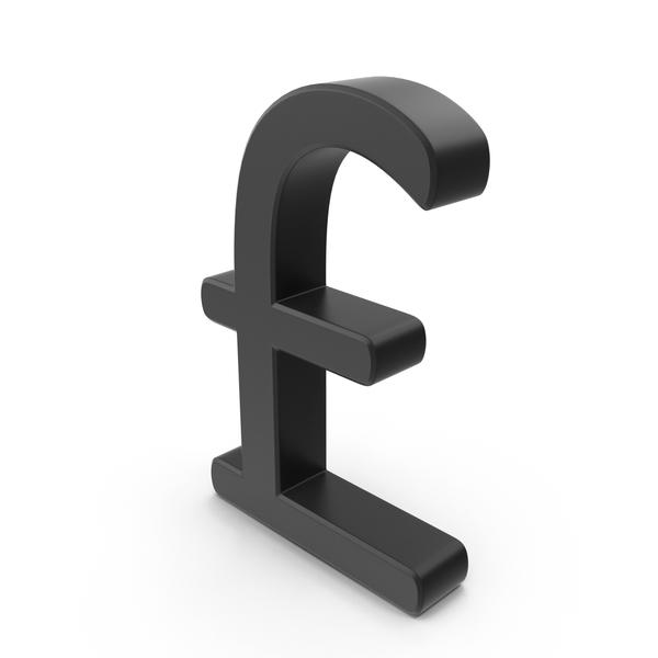 Pounds Symbol Black Bold Object