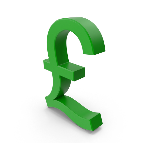 Pounds Symbol Metallic Green PNG & PSD Images
