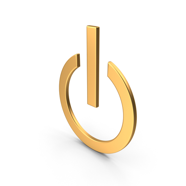 Power Button Off Symbol Gold PNG & PSD Images