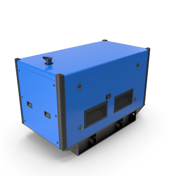 Portable: Power Generator Blue PNG & PSD Images