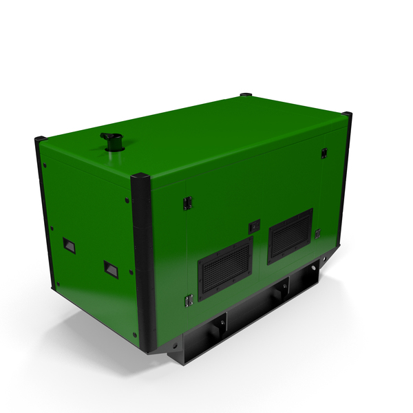 Portable: Power Generator Green PNG & PSD Images