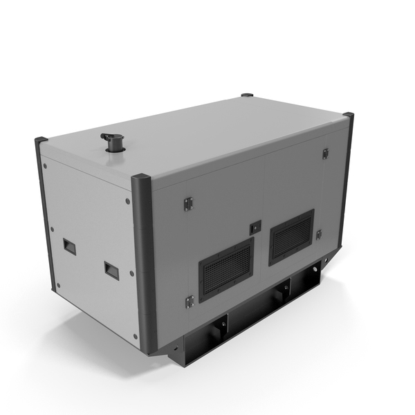 Portable: Power Generator Grey PNG & PSD Images