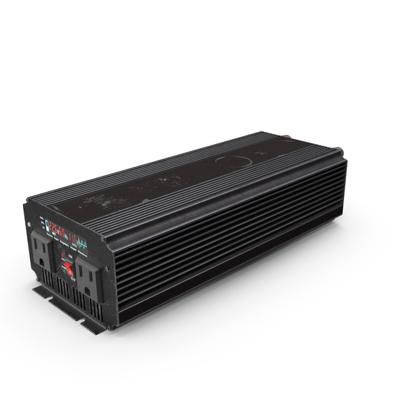 Power Inverter Black Used PNG & PSD Images