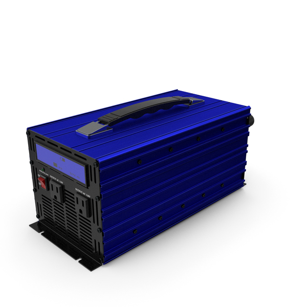 Pc Supply: Power Inverter Blue PNG & PSD Images