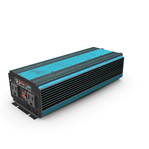 Power Inverter Blue Used PNG & PSD Images