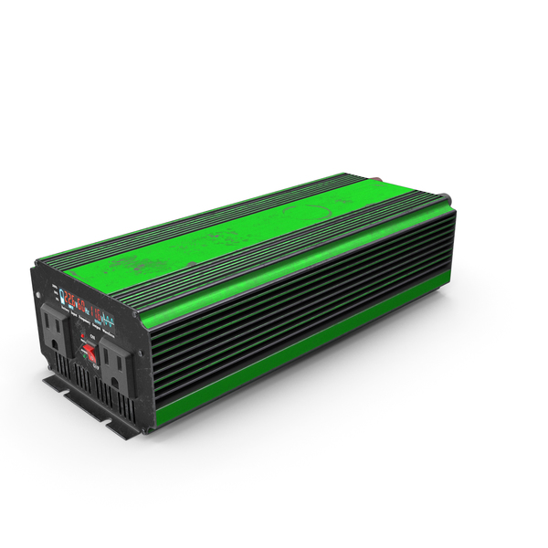 Power Inverter Green Used PNG & PSD Images