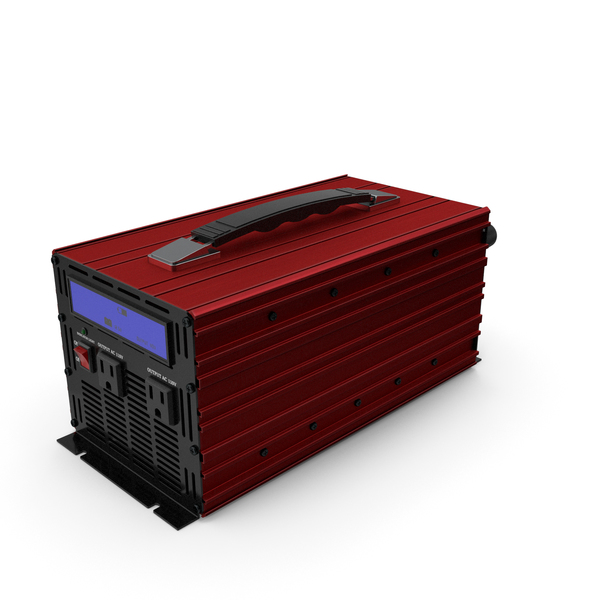 Power Inverter Red PNG & PSD Images