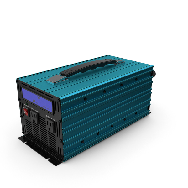 Pc Supply: Power Inverter Sky-blue PNG & PSD Images