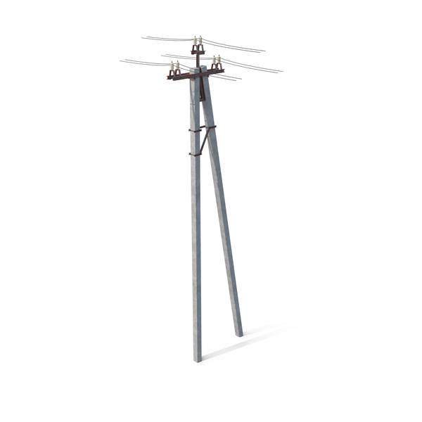 Power Pole with Wires PNG & PSD Images