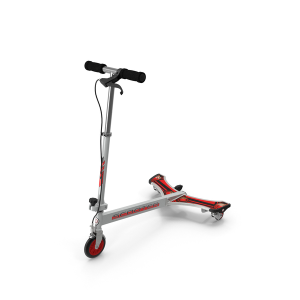Kick: PowerWing Scooter Gray Red PNG & PSD Images